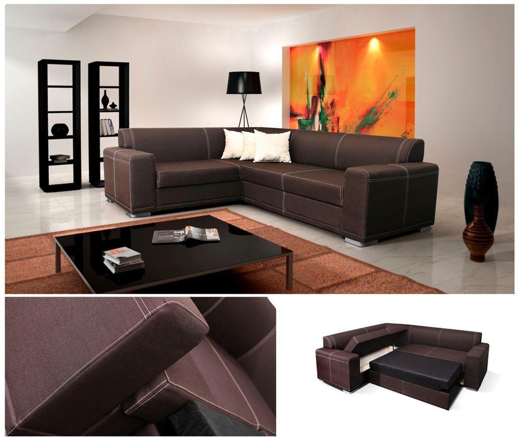 White Leather Corner Sofa Ebay: Monaco Corner Sofa Bed Faux Leather Or Fabric, Left Or